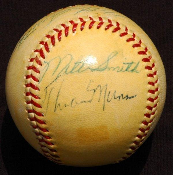 4: 1970's Thurman Munson Signed Giles Baseball