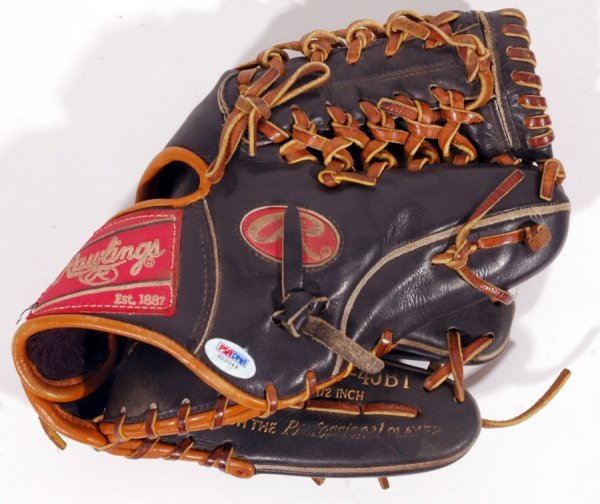 5: 2006 Dustin Pedroia Signed Game Used Baseball Glove - 3