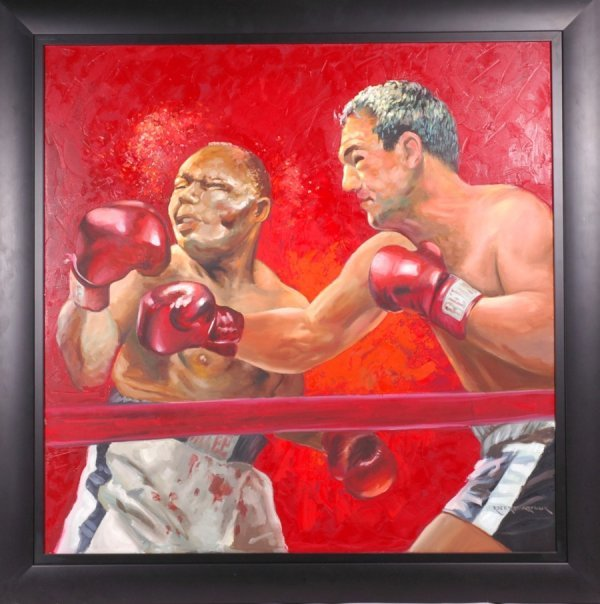 6: Marciano - Walcott Boxing Painting Owned by Rocky