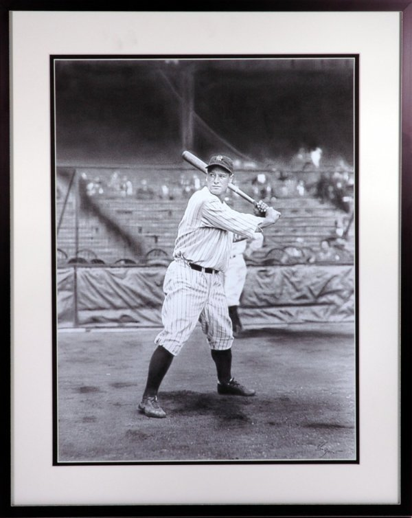 7: Lou Gehrig Pencil Orig Art by Natalie Rattner