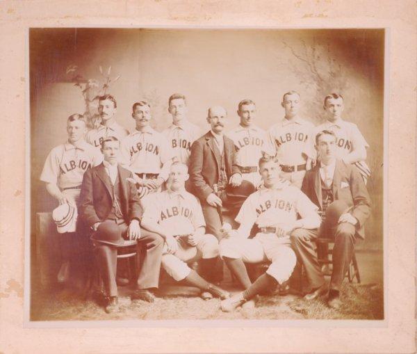 11: 1880's Albion College Baseball Cabinet Photo