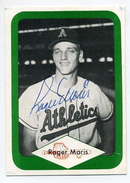 13: 1980's Roger Maris Signed Baseball Card