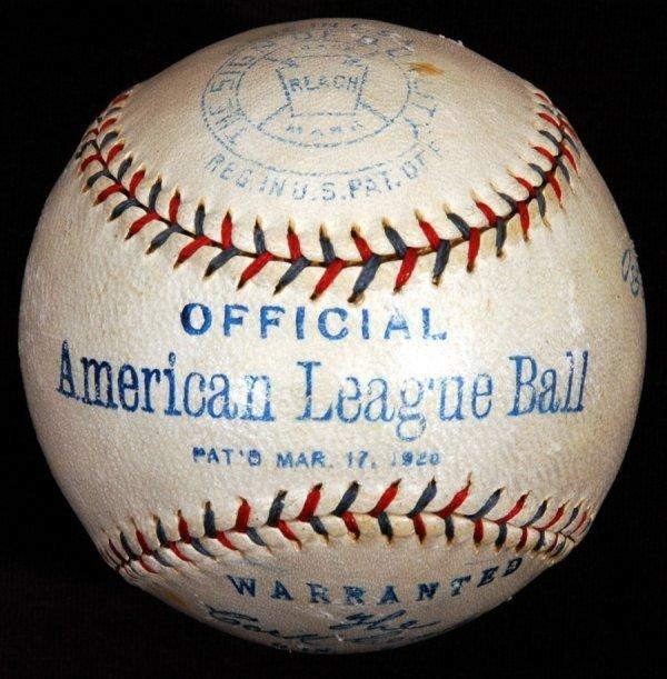 14: 1920 Ban Johnson Official American League Baseball