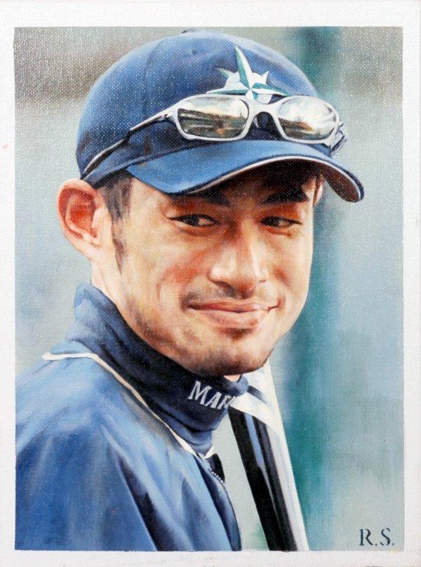 17: ICHIRO Suzuki Original Painting by Ron Stark