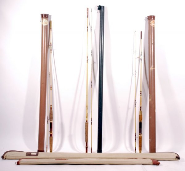 20: (4) Ted Williams Co Fishing Rods w/ Holders