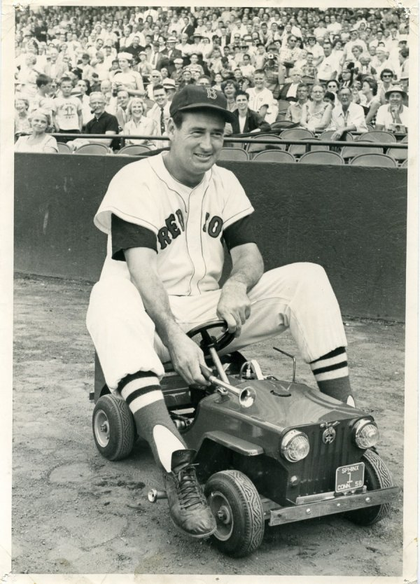 22: 1958 Ted Williams Oversized Baseball Photo