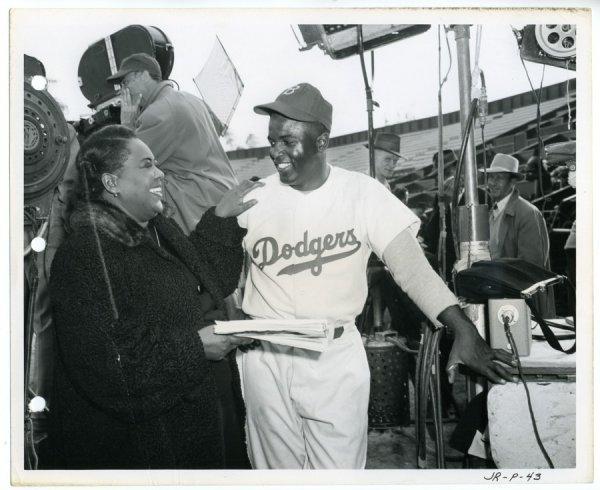23: (7) 1950 Jackie Robinson Story Baseball Stills