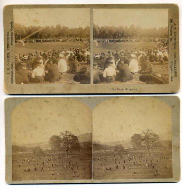 24: (2) 19th Century Baseball Stereoview Cards