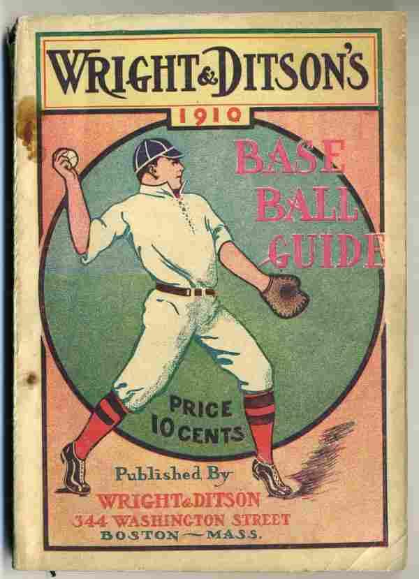 1910 Wright and Ditson Baseball Guide