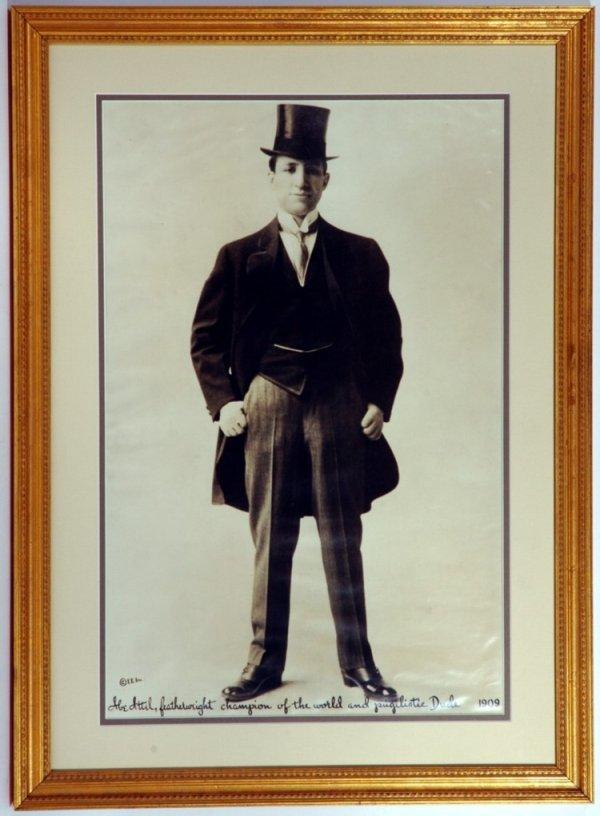 81: Large 1909 Abe Attell Boxing Photo (12x19)