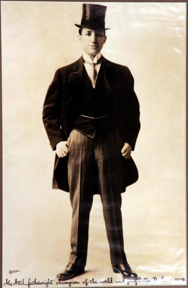 81: Large 1909 Abe Attell Boxing Photo (12x19) - 2