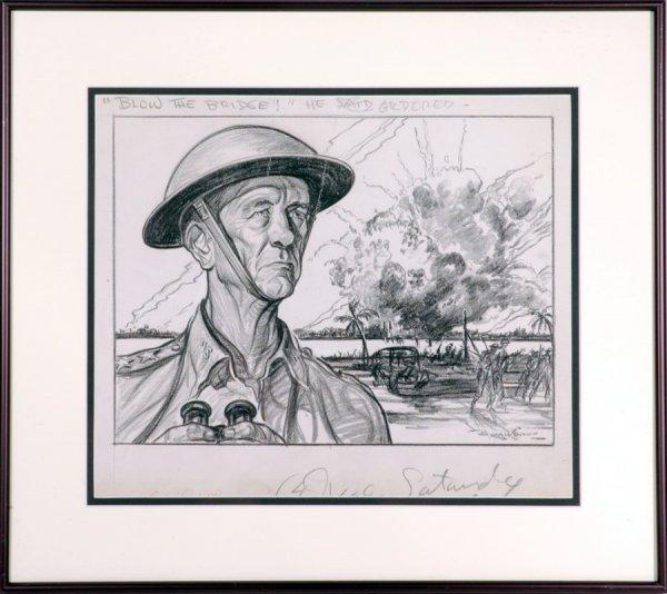 128: WWII Original Artwork by Burris Jenkins