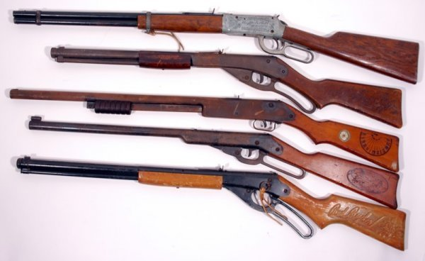 169: (5) 1950's Cowboy Western BB Gun's
