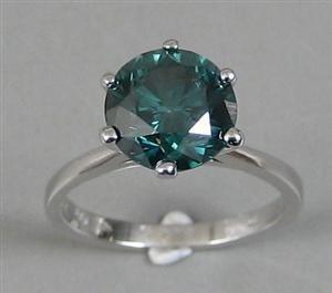 1014: Fancy blue diamond ring, 4.01ct