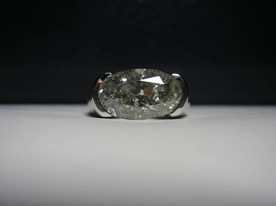 1040: White gold diamod ring, 5.20ct