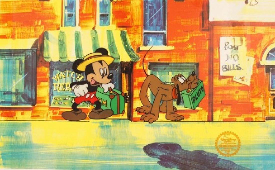 """Walt Disney """"Mr. Mouse Takes A Trip"""" Serigraph Cel"""