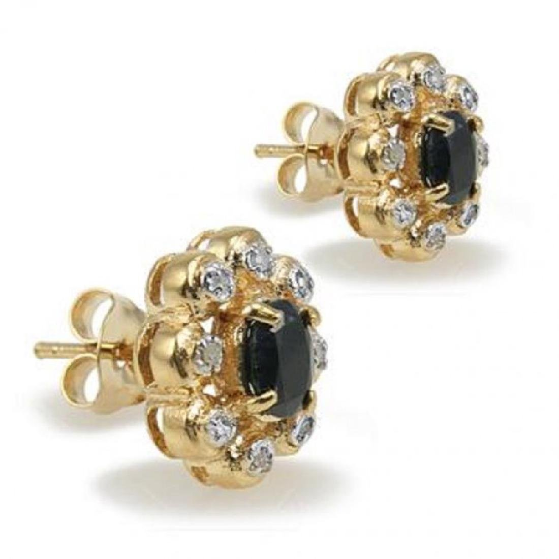 2.38 CT Sapphire & Diamond Designer Earrings - 2