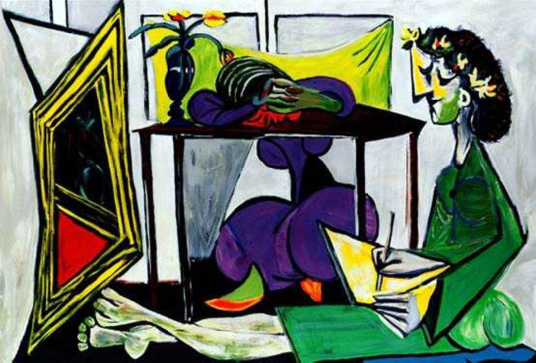 INTERIOR WITH GIRL DRAWING Picasso Estate Signed Giclée