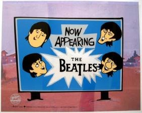 THE BEATLES NOW APPEARING Animation Cartoon Sericel