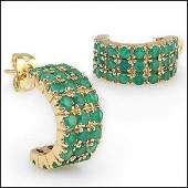 Jewelry Sale 602 CT Green Agate Stud Designer Earrings