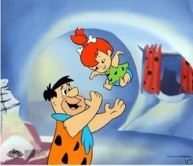 The Flintstones TOSSING PEBBLES Limited Ed. Sericel