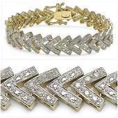 123 CTW Diamond Designer Bracelet