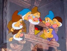 1978 Disney Snow White Seven Dwarfs Ltd Ed Sericel