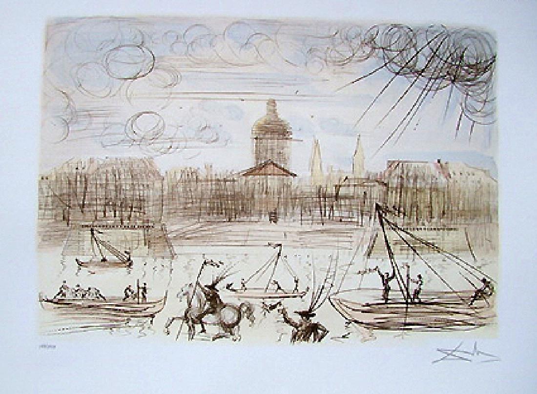 Salvador Dali limited edition litograph - Academy of