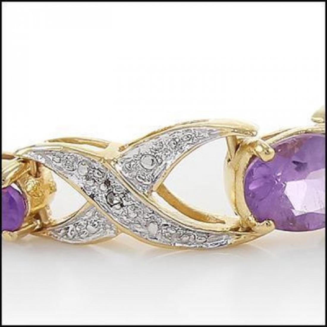 3.69 CT Amethyst & Diamond Designer Bracelet $965 - 2