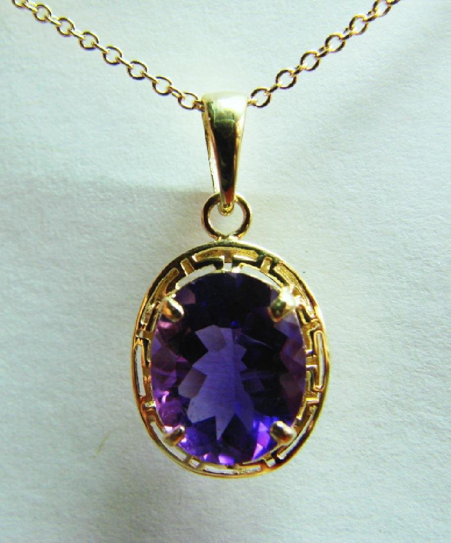 3.10 CT Amethyst Pendant Appraised at $3,000 - 2