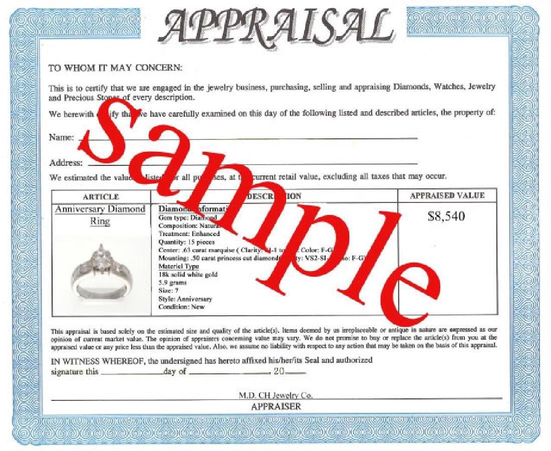 Tanzanite and Diamond Ring - Appraised at $12,470 - 3