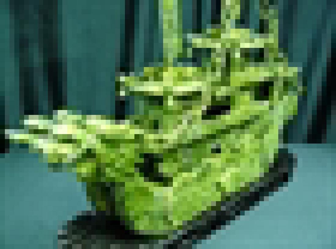 "24"" GREEN JADE DRAGON BOAT - 4"
