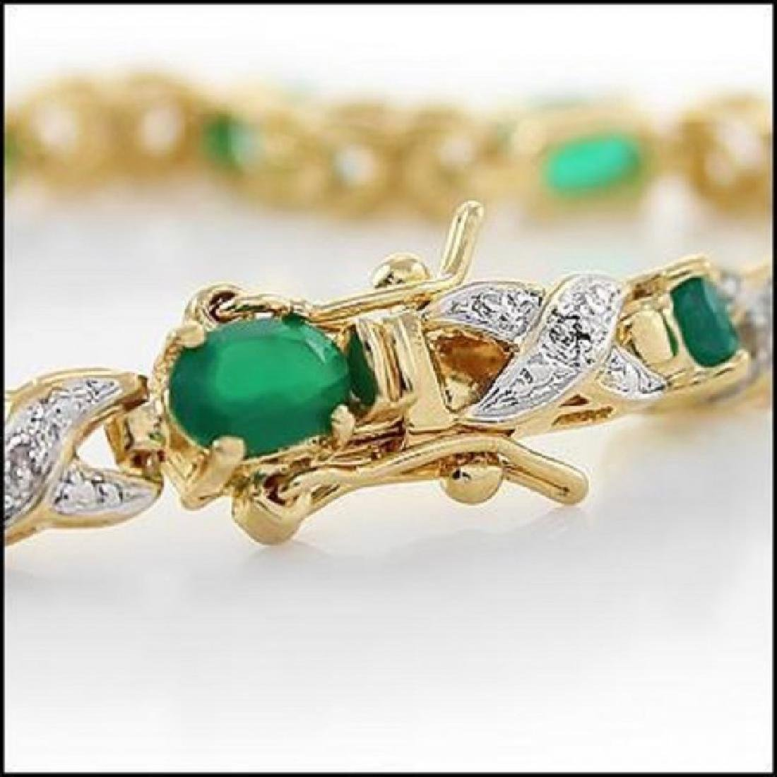 8.84 CT Green Agate & Diamond Designer Bracelet $1395 - 2