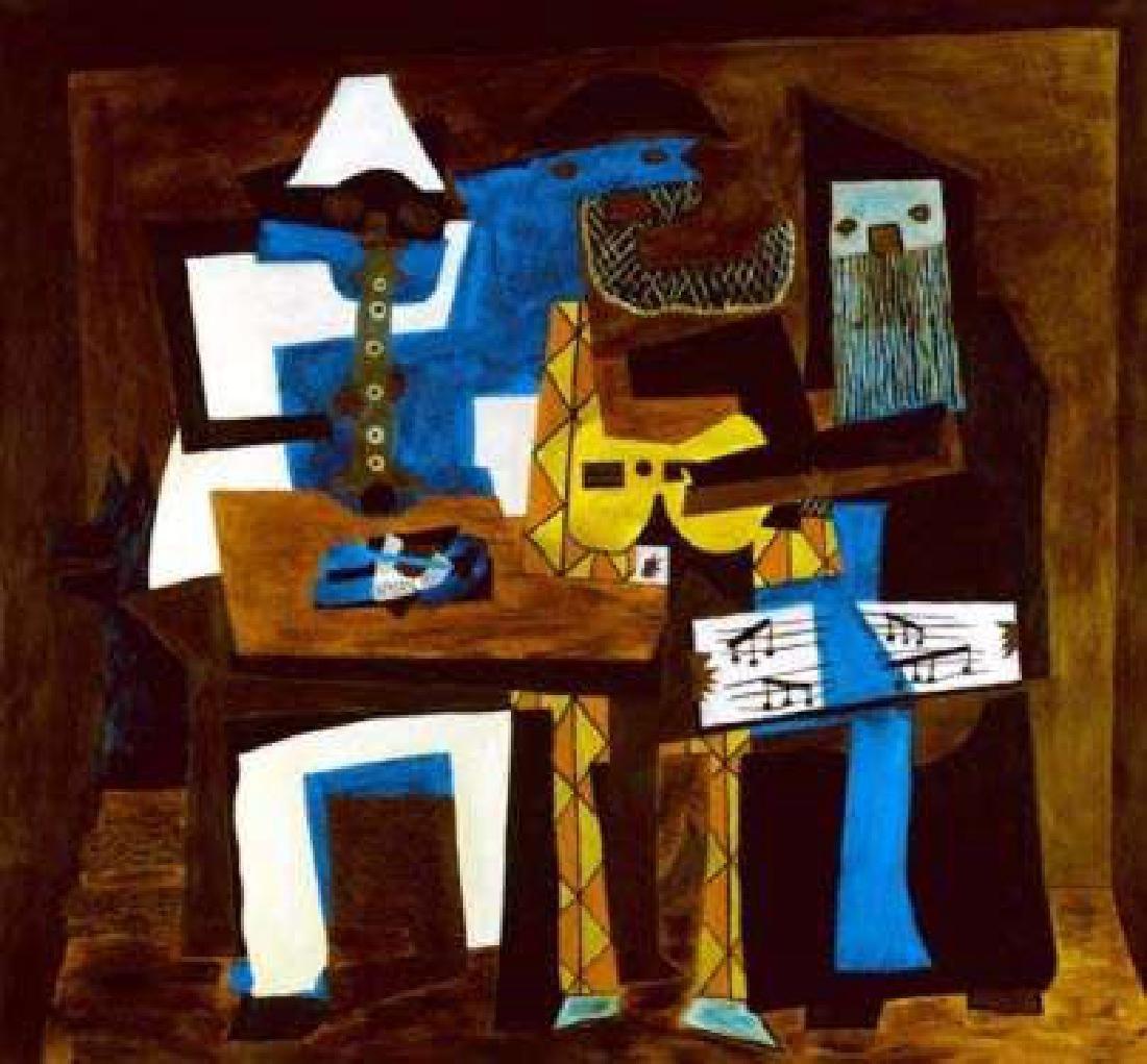 THREE MUSICIANS Picasso Estate Signed Giclée