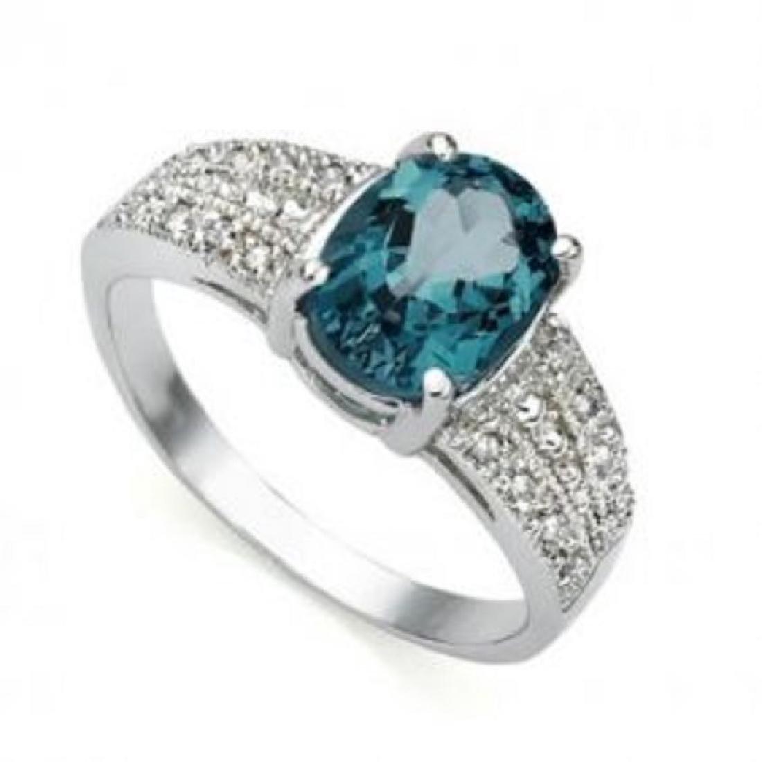 1.41 CT Certified Topaz & Diamond 14Kw Ring $4,170.00 - 2