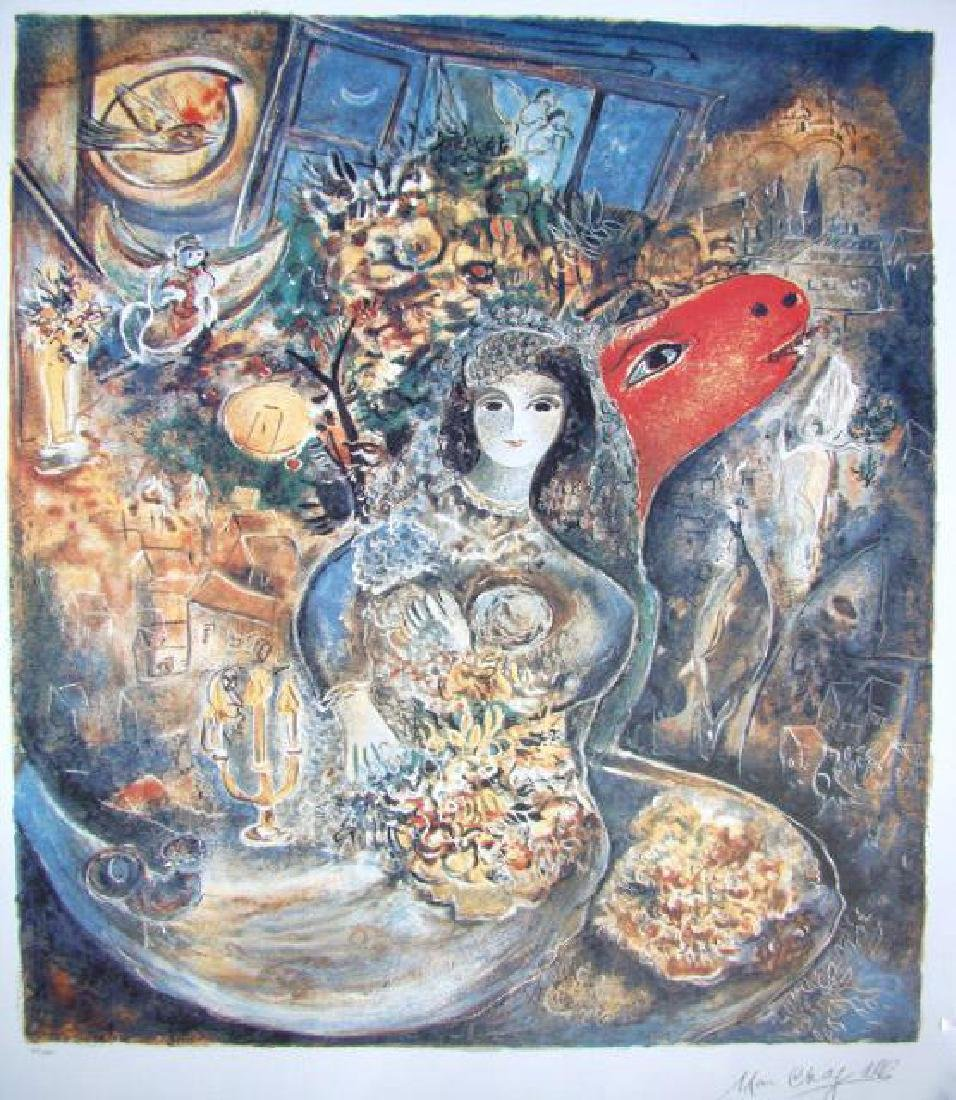 M.CHAGALL Signed Lithograph BELLA