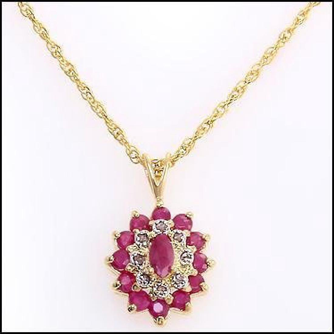 4.02 Ct Ruby & Diamond Designer Necklace - 2