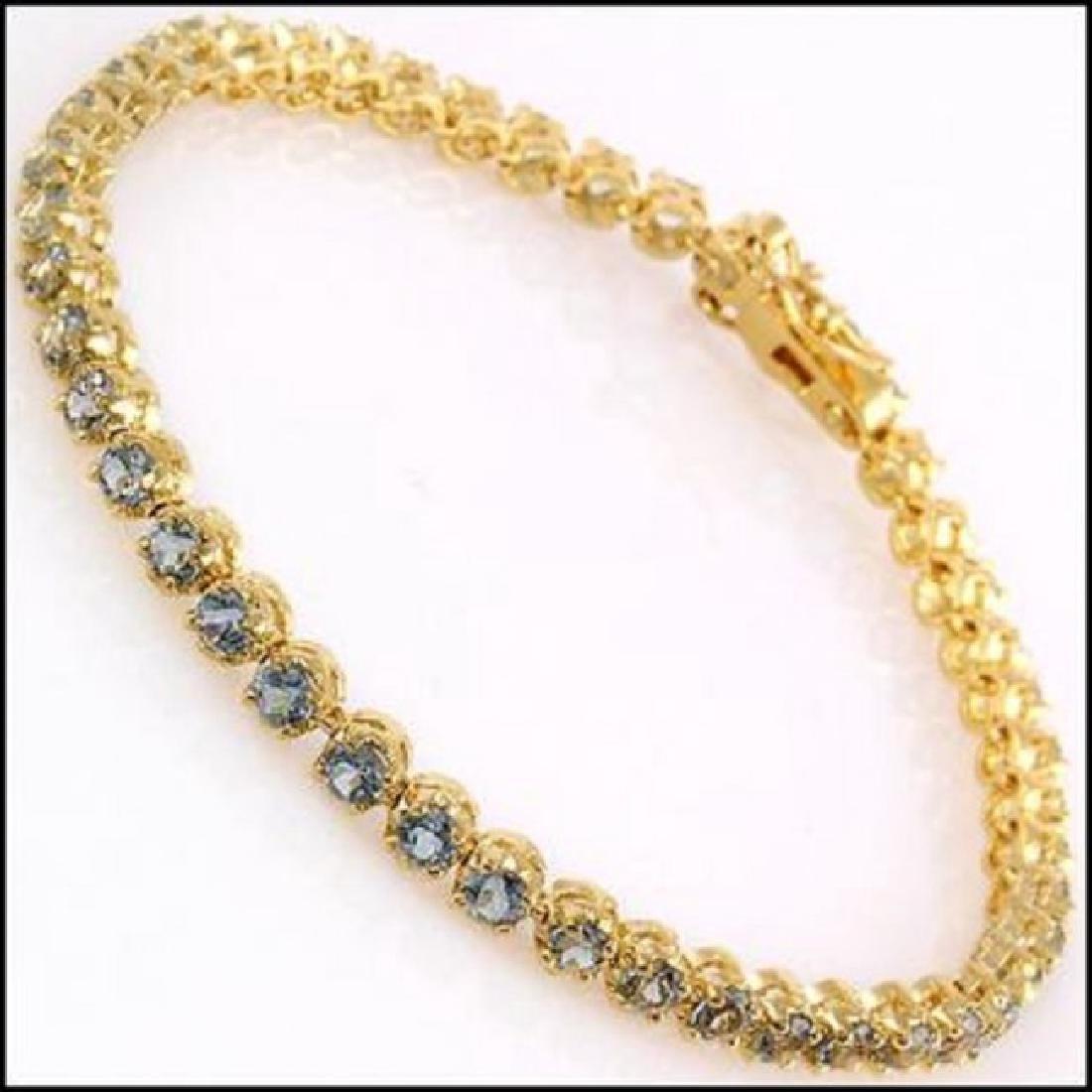 10.22 CT Blue Topaz Tennis Fine Bracelet $1120