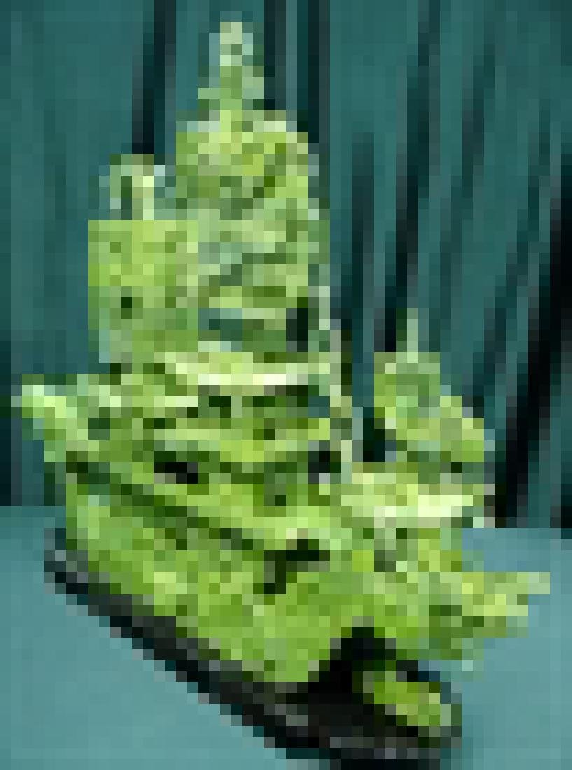 "24"" GREEN JADE DRAGON BOAT - 5"