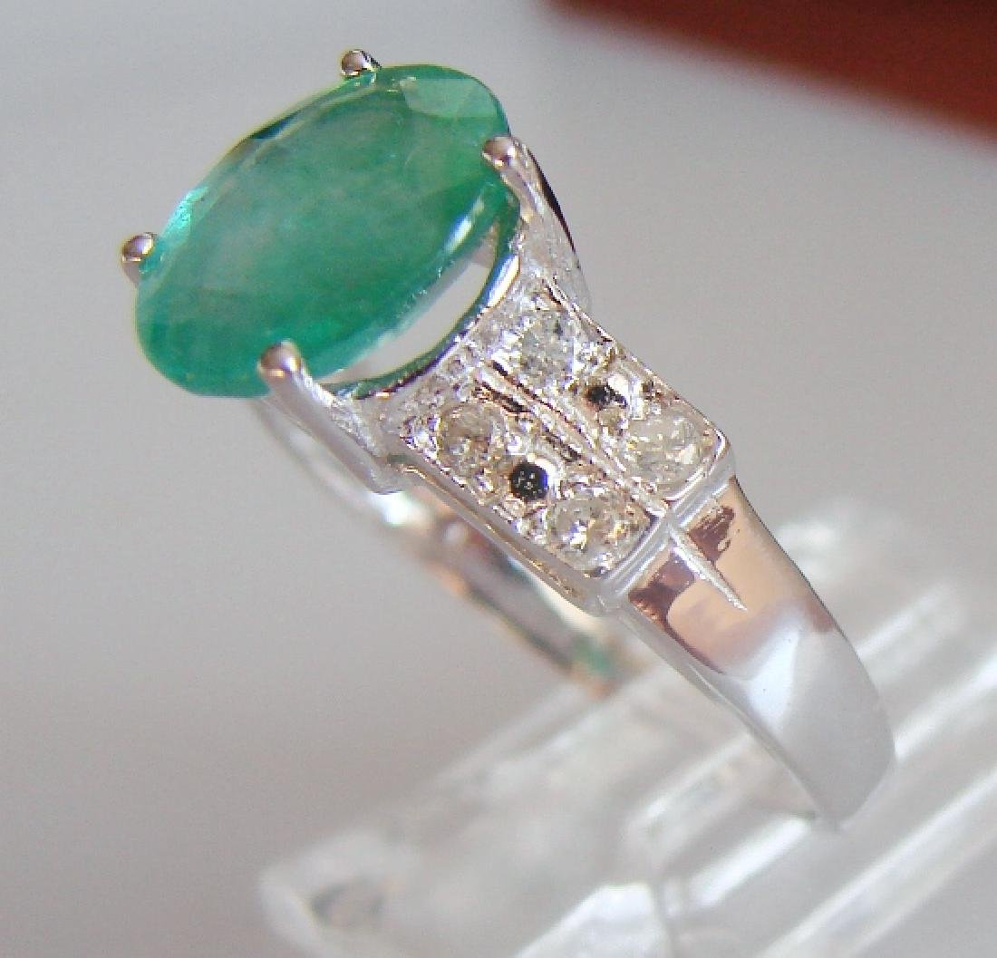 Emerald and Diamond Ring - Appraised at $11,725 - 2