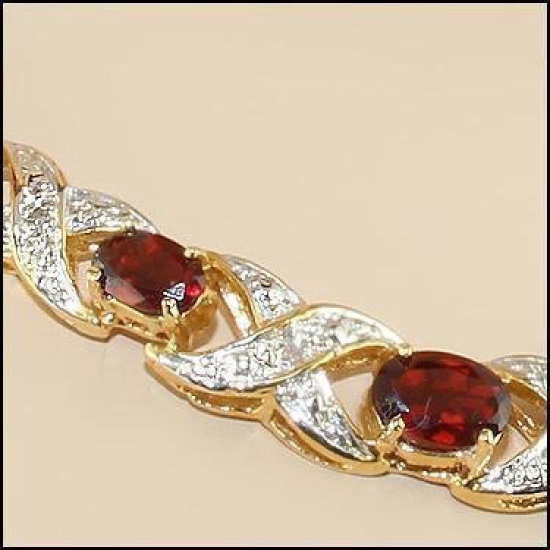12.19 CT Garnet & Diamond Designer Necklace $1,335 - 2