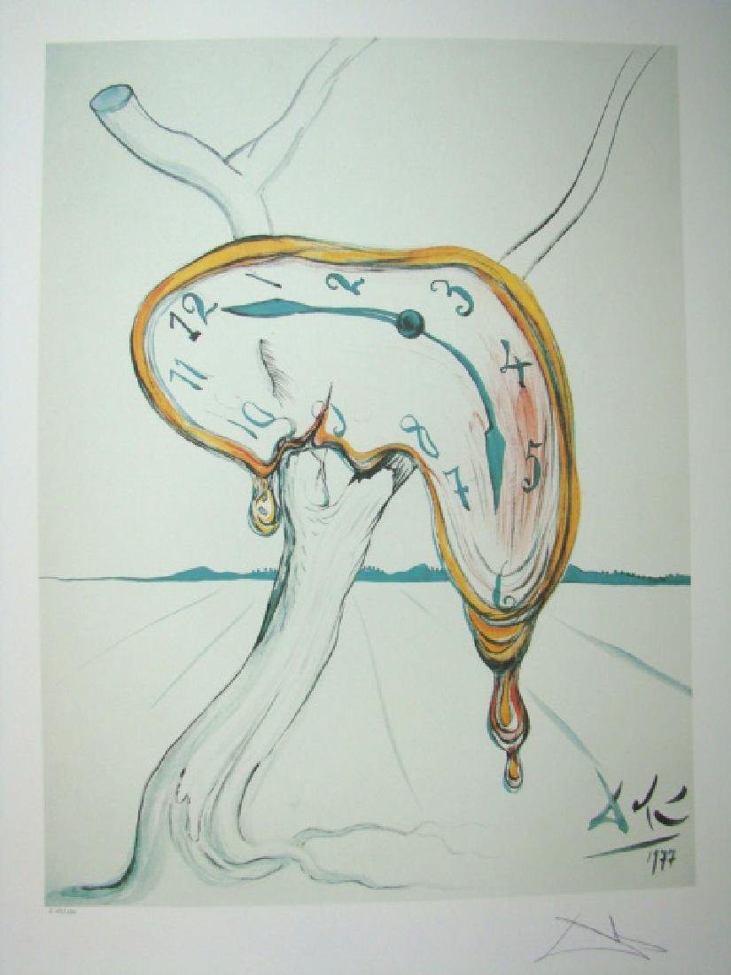 Salvador Dali Lithograph MELTING CLOCKS