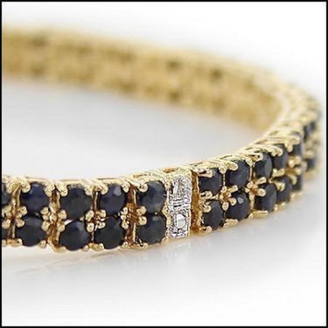 Jewelry Sale 17.69 CT Sapphire & Diamond Bracelet - 2