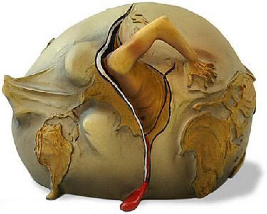 Salvador Dali GEOPOLITICAL CHILD Sculpture