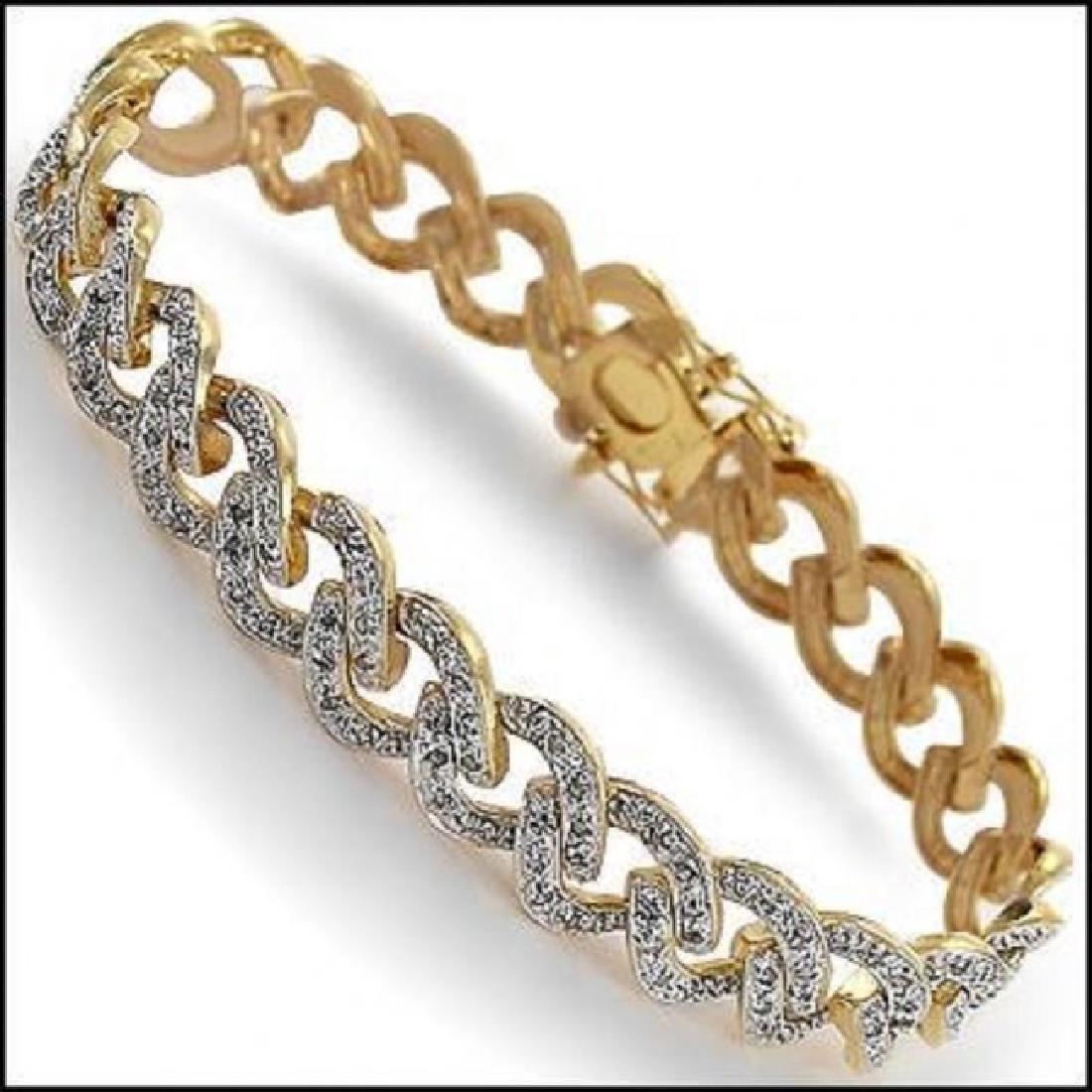 0.97 CTW Diamond Designer Fine Bracelet