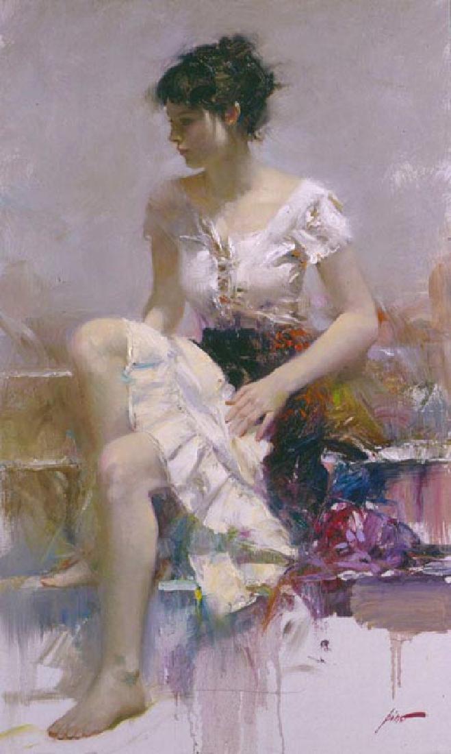 "Pino ""White Lace"" Ltd Ed. Giclee on Canvas"