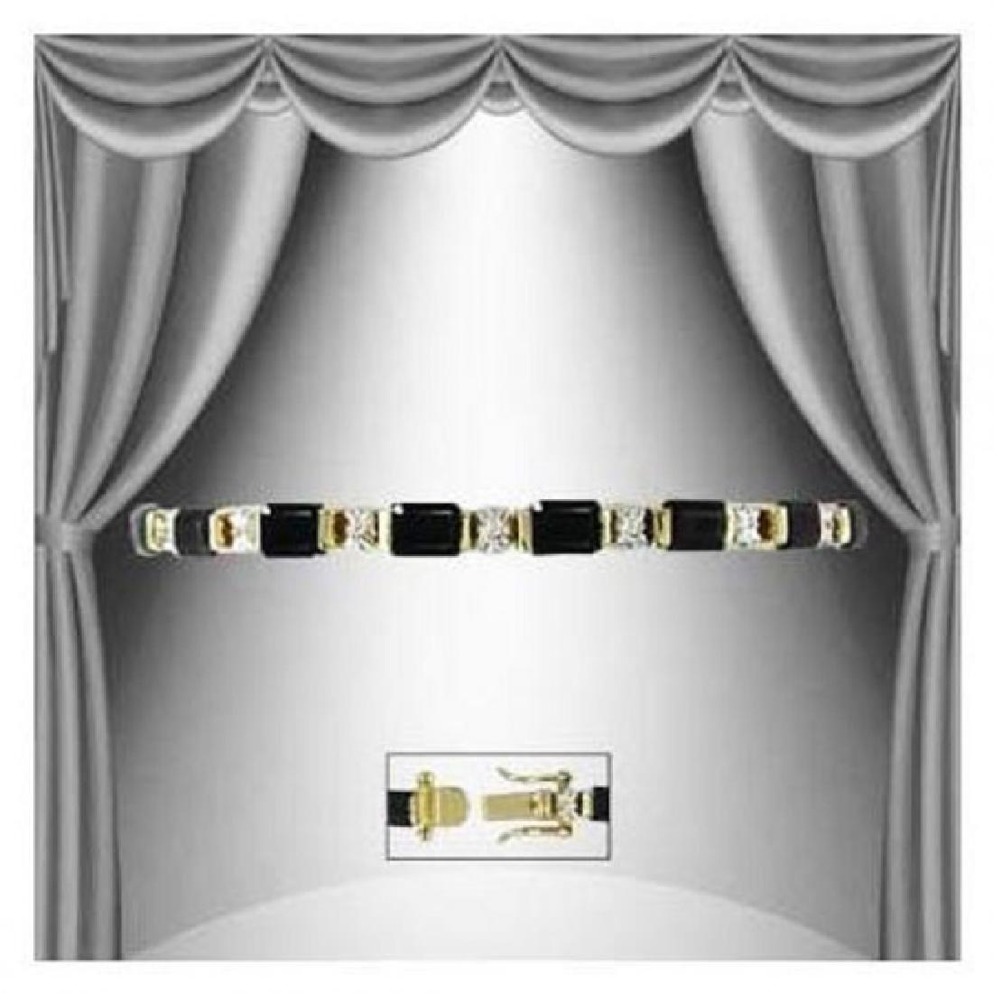 8.94 CTW Black Onyx & Diamond Fine Bracelet $1215