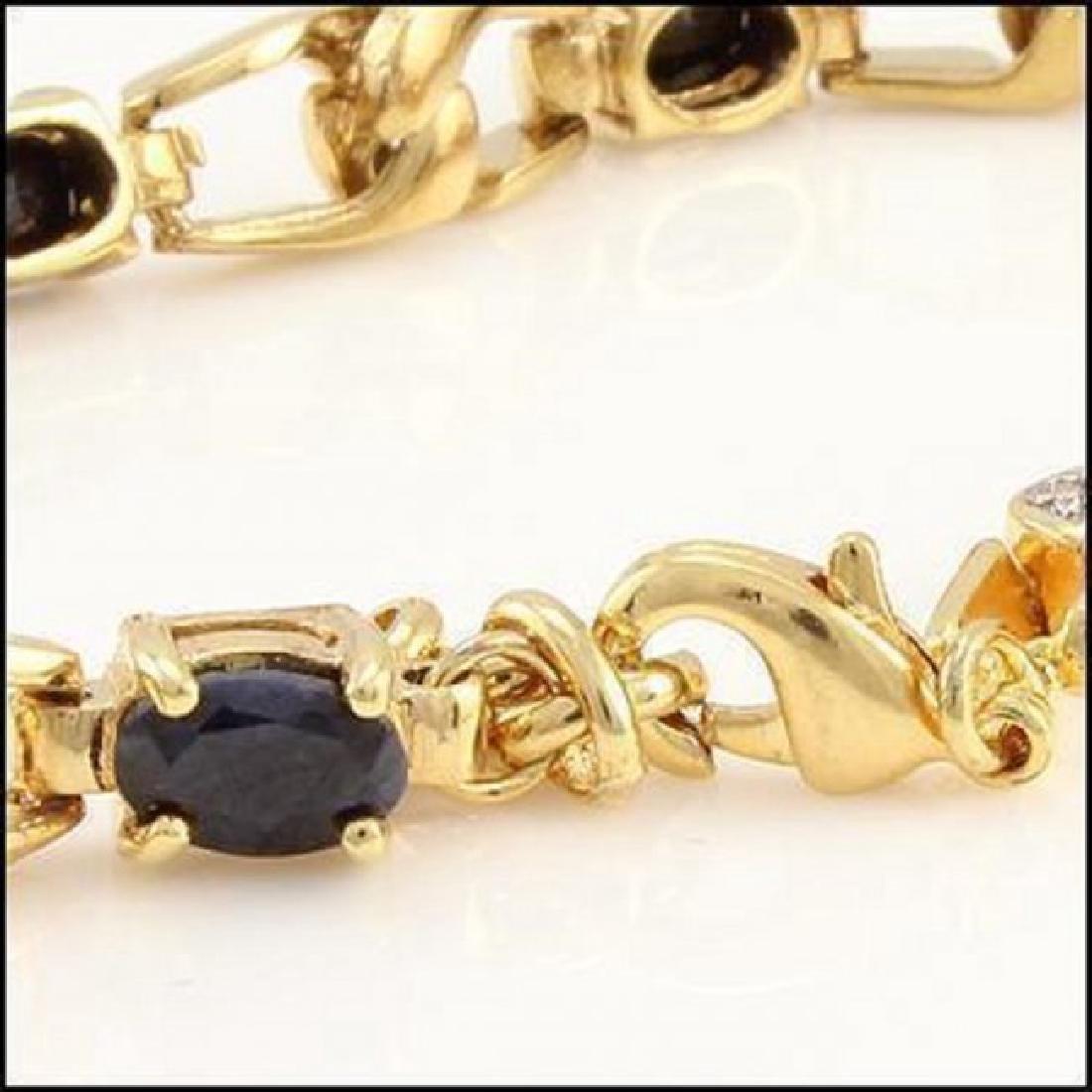 10.21CT Black Sapphire & Diamond Designer Bracelet - 2