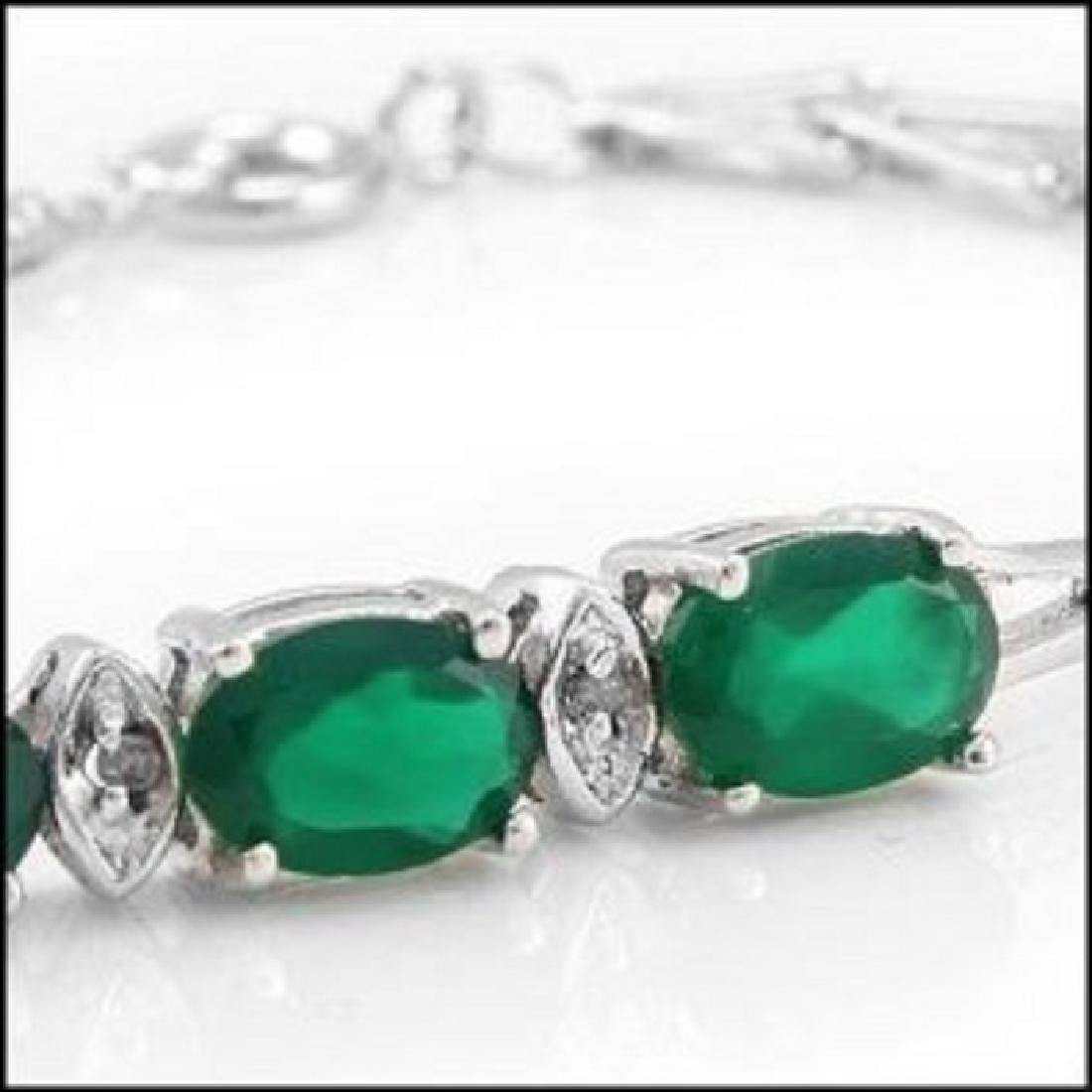 4.39 Ct Green Agate & Diamond Designer Bracelet - 2
