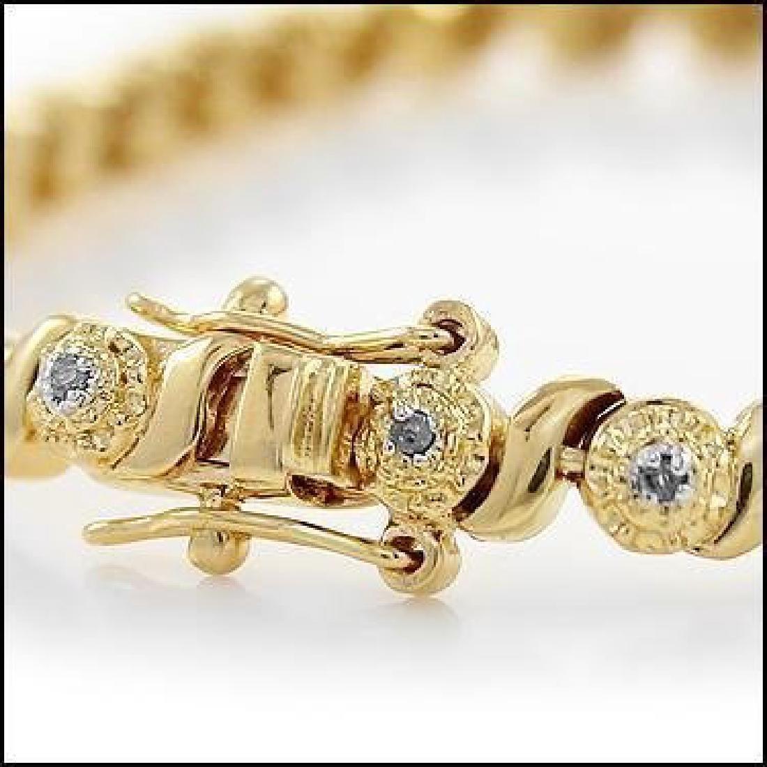 0.88 CTW Diamond Fine Designer Bracelet - 2